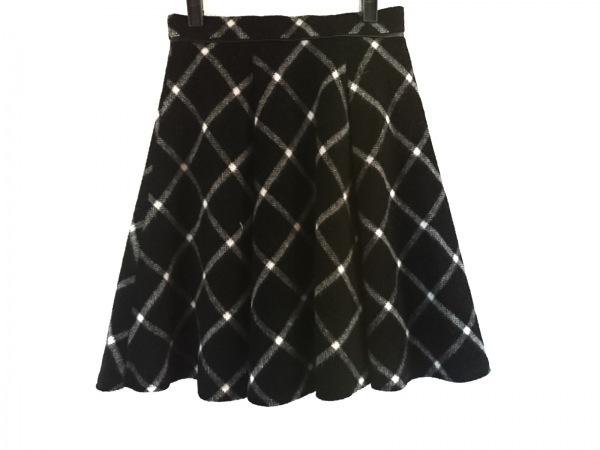ジャスグリッティー スカート サイズ1 S レディース美品  黒×白 チェック柄