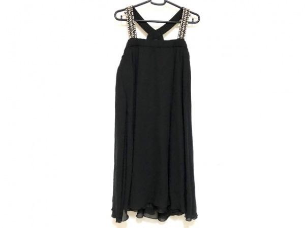 ストロベリーフィールズ ドレス レディース 黒 ラインストーン/フェイクパール