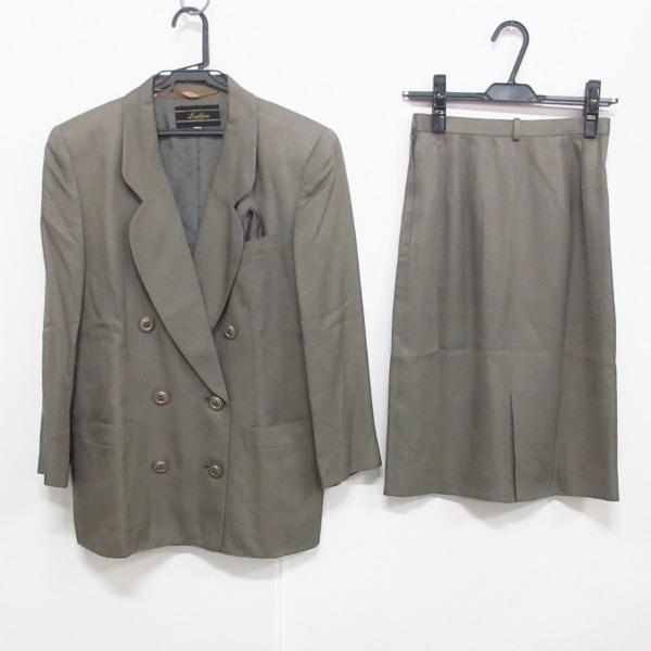 Leilian(レリアン) スカートスーツ サイズ9 M レディース グレー 肩パッド