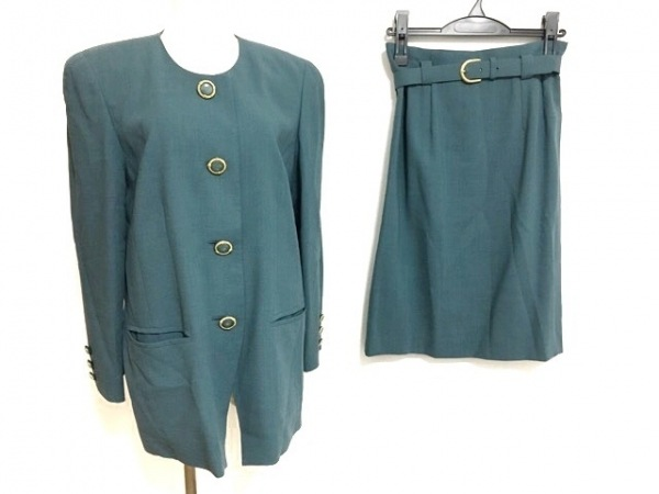 Leilian(レリアン) スカートスーツ サイズ9 M レディース美品  グリーン
