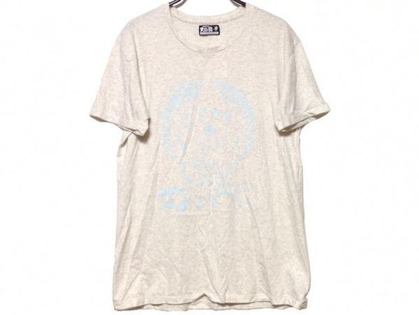 ミハラヤスヒロ 半袖Tシャツ サイズM メンズ ライトグレー×ライトブルー 火の鳥