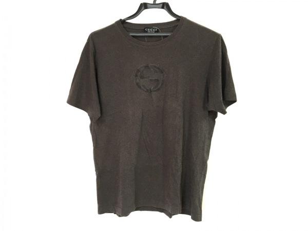 GUCCI(グッチ) 半袖Tシャツ メンズ ダークブラウン