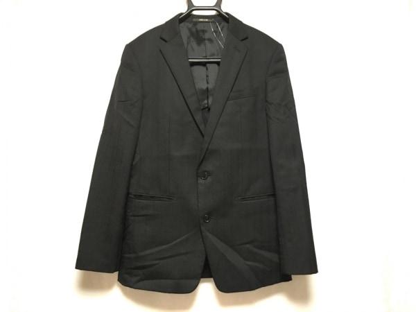 COMME CA MEN(コムサメン) ジャケット サイズ46 XL メンズ 黒 ストライプ