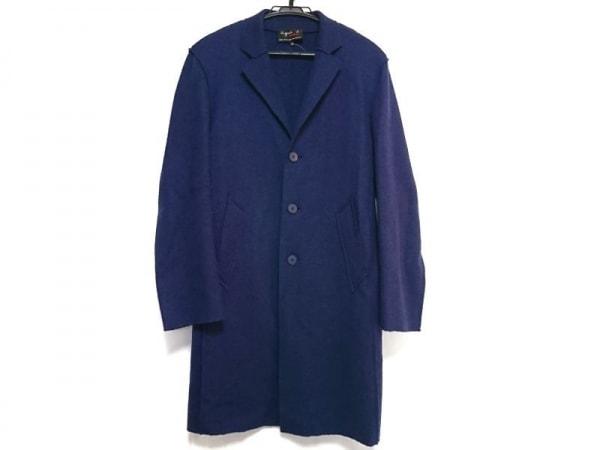 agnes b(アニエスベー) コート サイズ48 L メンズ美品  ネイビー homme/冬物