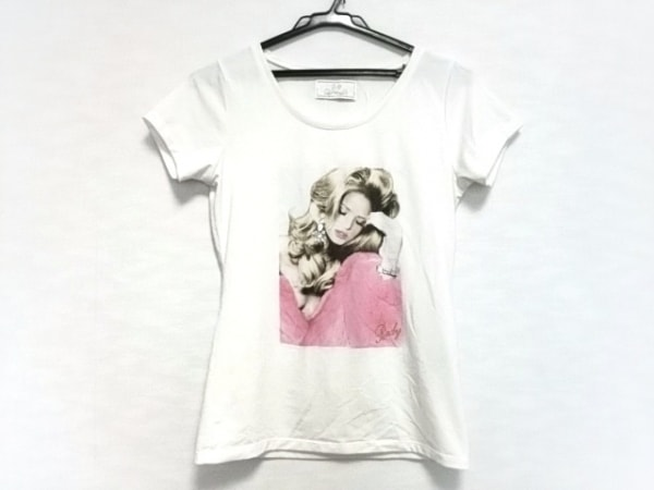 Rady(レディ) 半袖Tシャツ レディース 白×マルチ ビジュー