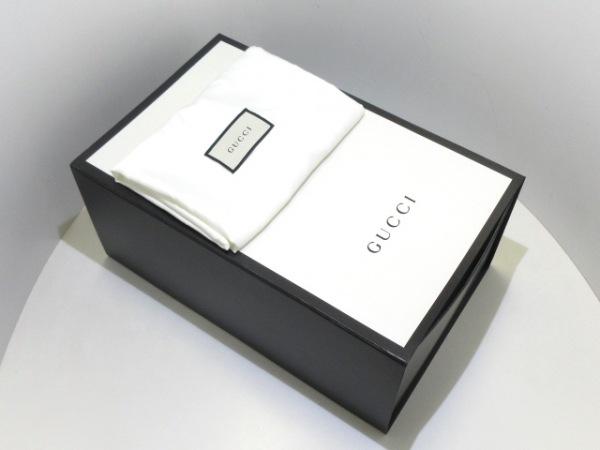 GUCCI(グッチ) ワンショルダーバッグ美品  シマライン 523234 黒 レザー