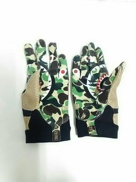 ア ベイシング エイプ 手袋 メンズ美品  CL4729 カーキ×ブラウン×マルチ