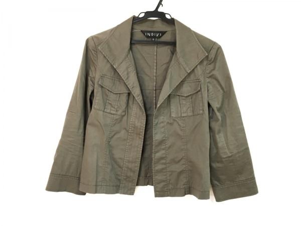 INDIVI(インディビ) ジャケット サイズ38 M レディース カーキ