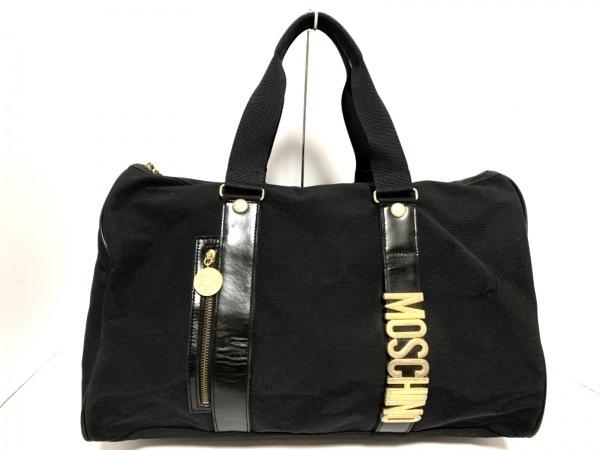 MOSCHINO(モスキーノ) ボストンバッグ 黒 ナイロン×レザー