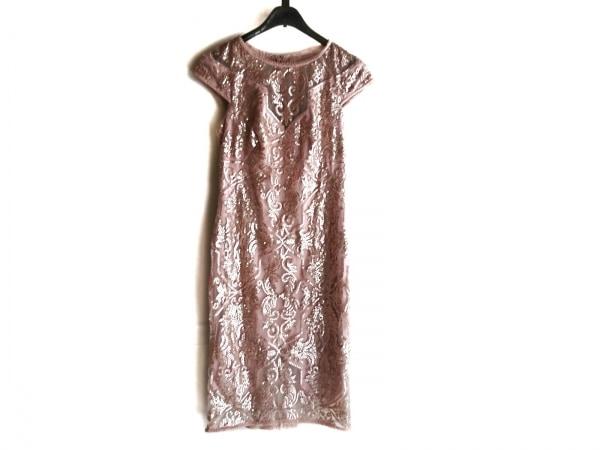 タダシショージ ドレス サイズ0 XS レディース美品  ピンク ラインストーン