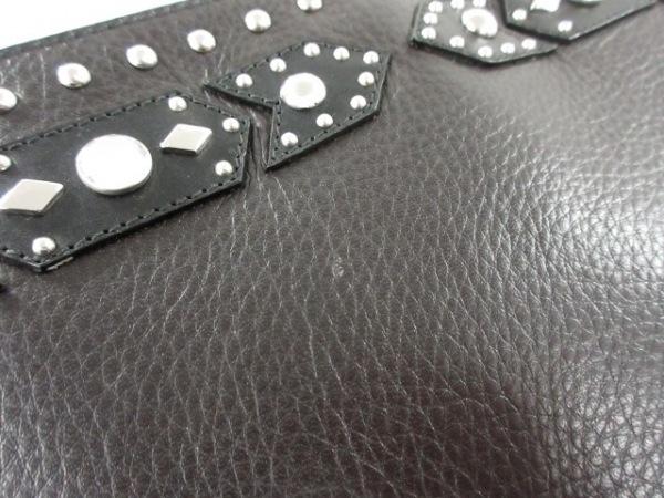 GIVENCHY(ジバンシー) クラッチバッグ美品  - 黒 スタッズ レザー