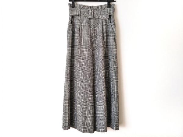 ジャスグリッティー パンツ サイズ0 XS レディース新品同様  白×黒 チェック柄