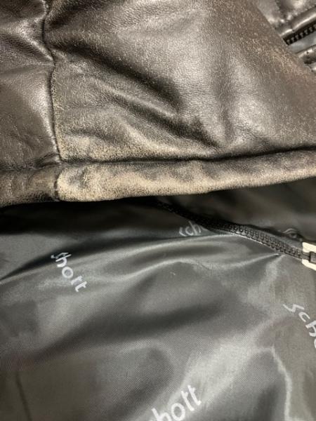 schott(ショット) ダウンコート サイズ38 M メンズ美品  黒 レザー/冬物/Down