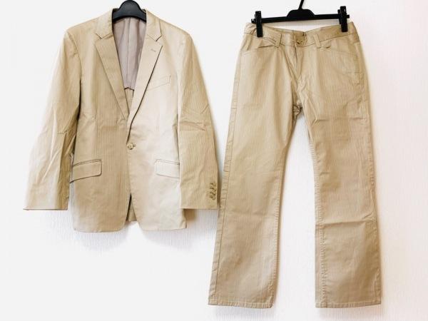 メンズビギ シングルスーツ サイズ03 L メンズ ベージュ ストライプ 1