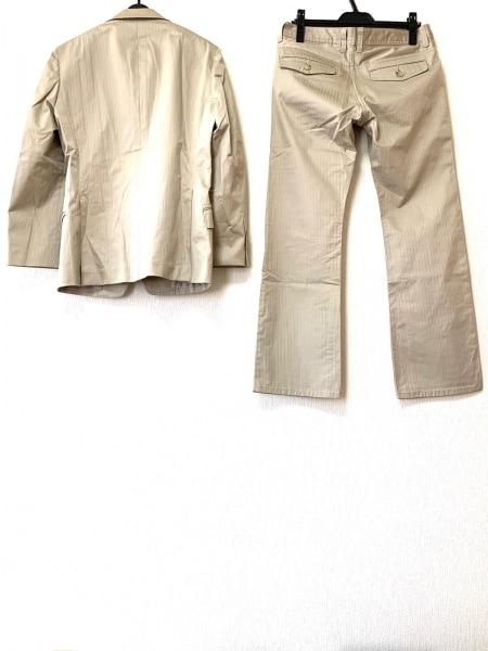 メンズビギ シングルスーツ サイズ03 L メンズ ベージュ ストライプ 2
