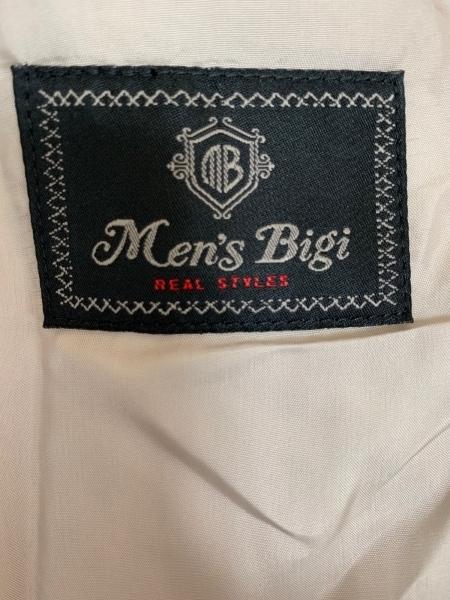メンズビギ シングルスーツ サイズ03 L メンズ ベージュ ストライプ 3