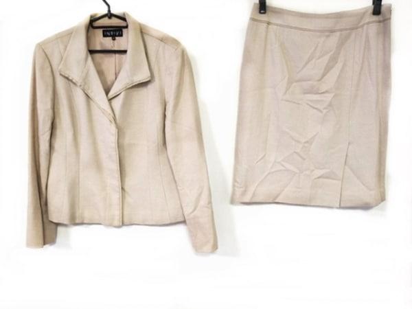 INDIVI(インディビ) スカートスーツ サイズ42 L レディース ベージュ