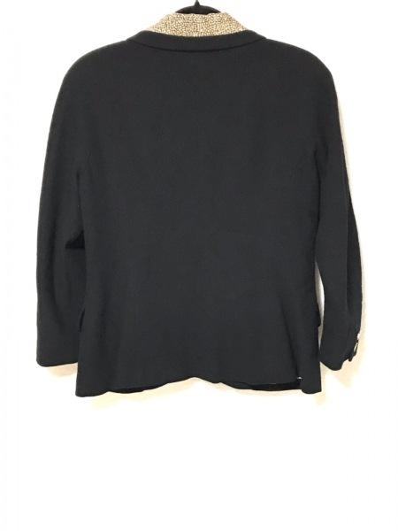 ボルボネーゼ ジャケット サイズ46 XL レディース 黒×ベージュ 2