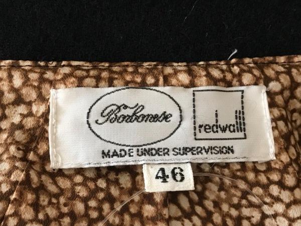 ボルボネーゼ ジャケット サイズ46 XL レディース 黒×ベージュ 3