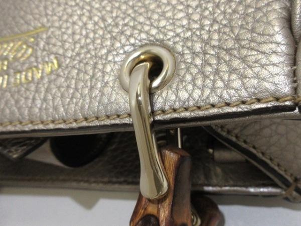 GUCCI(グッチ) ハンドバッグ美品  バンブー 369923 ゴールド レザー