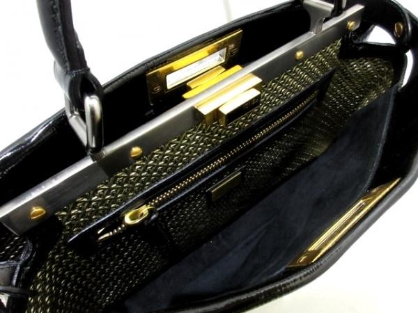 FENDI(フェンディ) ハンドバッグ ピーカブー 8BN211 黒 エナメル(レザー)