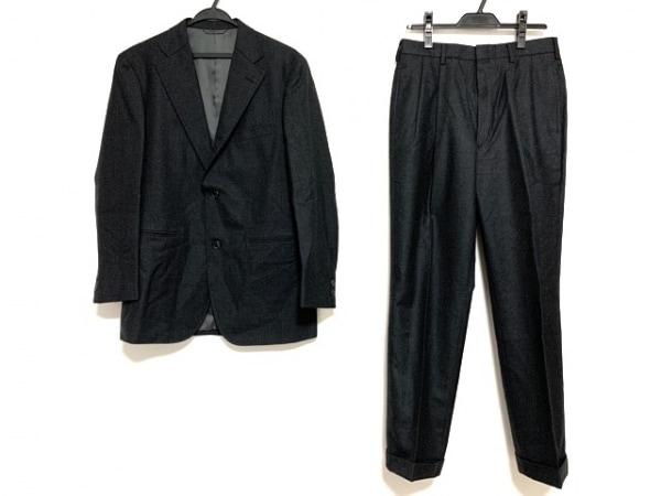 ニューヨーカー シングルスーツ メンズ ダークグレー ネーム刺繍/3点セット