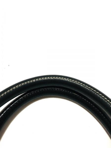 BRUNOMAGLI(ブルーノマリ) ハンドバッグ 黒×ゴールド レザー×金属素材