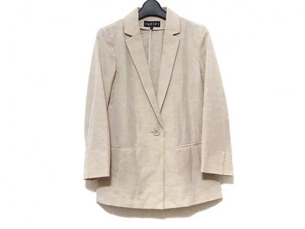 INDIVI(インディビ) ジャケット サイズ38 M レディース美品  ベージュ 薄手