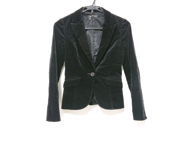INDIVI(インディビ) ジャケット サイズ36 S レディース 黒 ベロア
