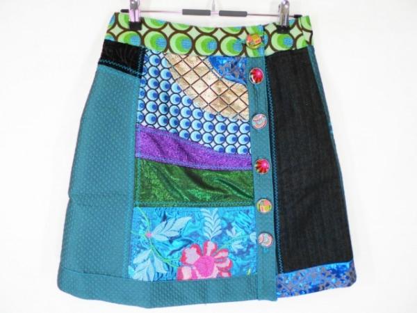 Desigual(デシグアル) 巻きスカート サイズ36 M レディース美品  ラメ