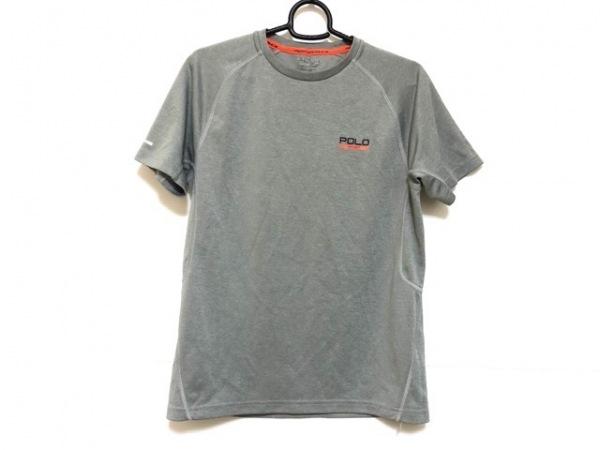 ポロスポーツラルフローレン 半袖Tシャツ サイズXS メンズ グレー×黒×オレンジ