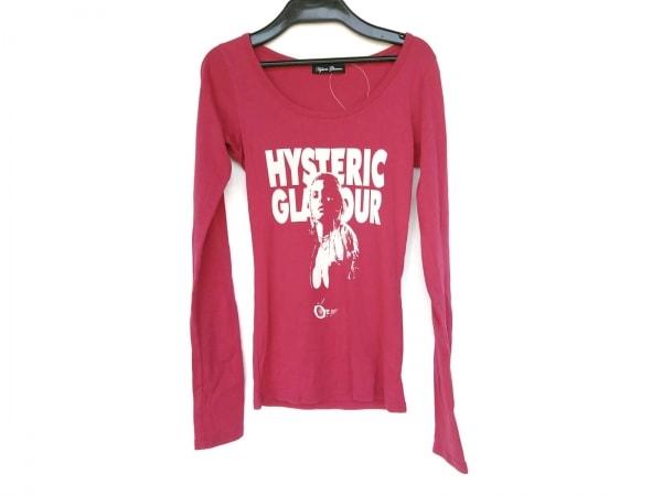 ヒステリックグラマー 長袖Tシャツ サイズF レディース新品同様  ピンク×白