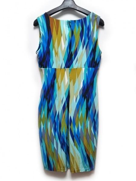 カルバンクライン ワンピース サイズ6 M レディース美品  ブルー×ブラウン