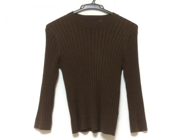 JUSGLITTY(ジャスグリッティー) 長袖セーター サイズ2 M レディース美品  ブラウン