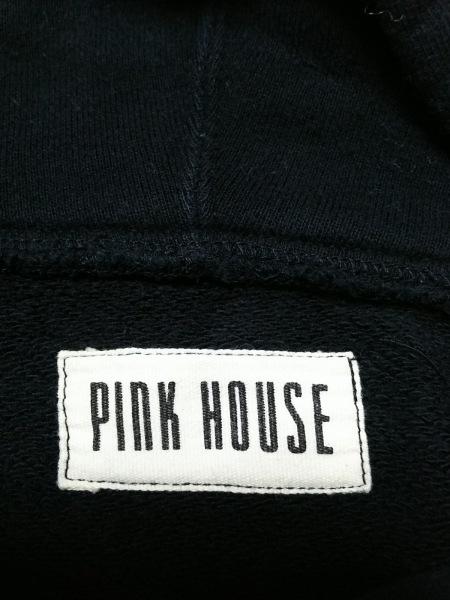 PINK HOUSE(ピンクハウス) パーカー レディース 黒×白 ジップアップ
