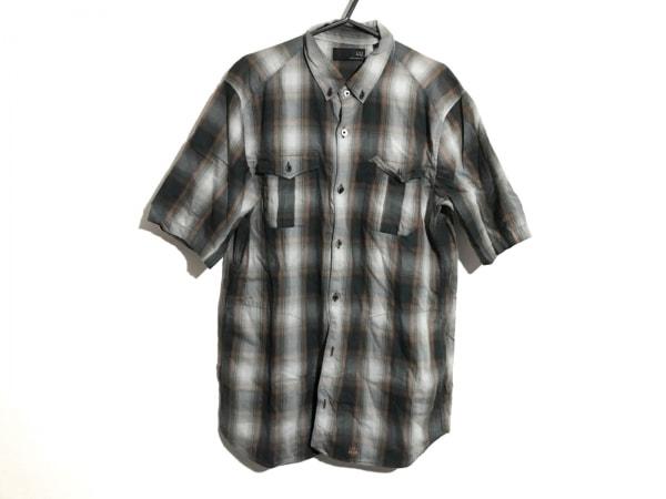 アンダーカバー 半袖シャツ サイズM メンズ ライトグレー×カーキ×オレンジ