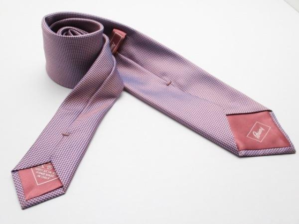 Brioni(ブリオーニ) ネクタイ メンズ新品同様  ピンク×ネイビー×マルチ