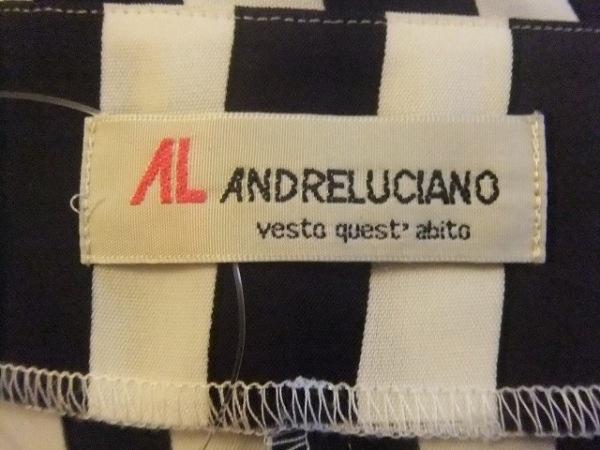 アンドレルチアーノ ジャケット サイズIT-S レディース 黒×白 ストライプ/肩パッド
