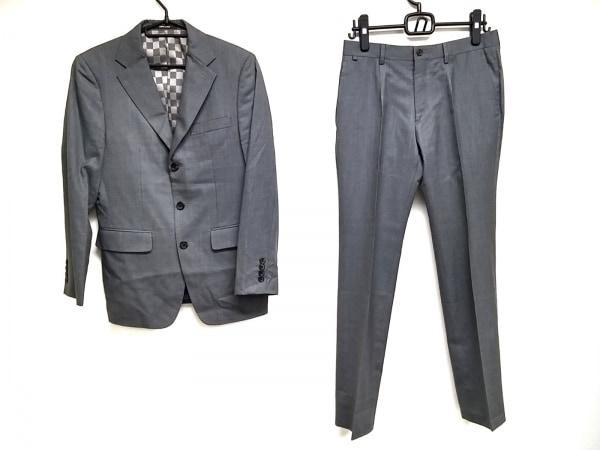COMME CA MEN(コムサメン) シングルスーツ サイズ44 L メンズ グレー 肩パッド