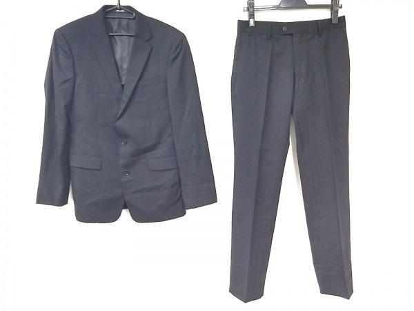 COMME CA MEN(コムサメン) シングルスーツ サイズ44 L メンズ美品  黒 肩パッド