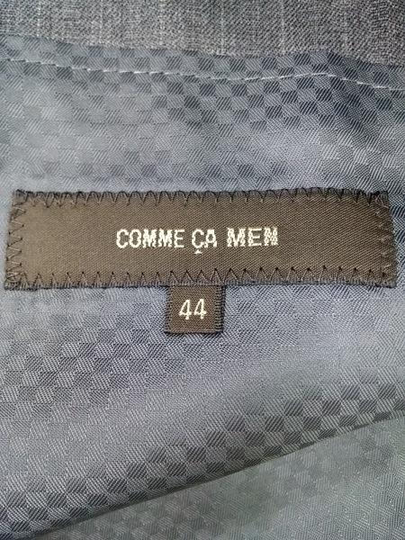 COMME CA MEN(コムサメン) シングルスーツ サイズ44 L メンズ ダークグレー 肩パッド