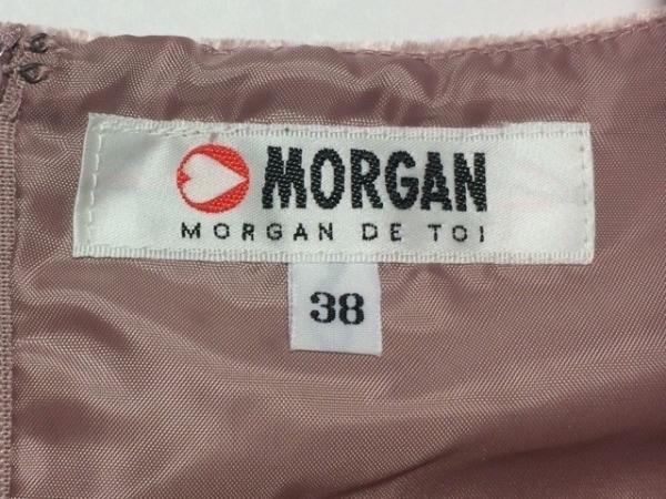 モルガン ワンピース サイズ38 M レディース新品同様  ライトブラウン×アイボリー