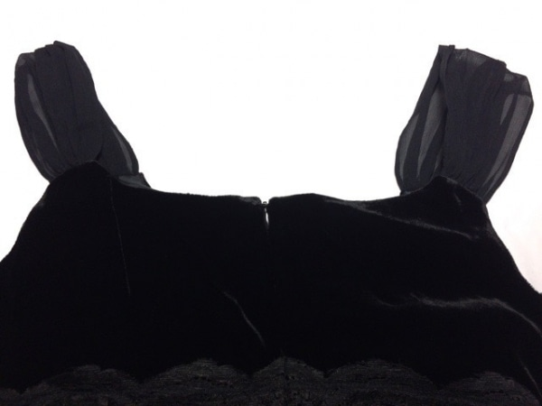 MORGAN(モルガン) ワンピース サイズ38 M レディース新品同様  黒 ベロア