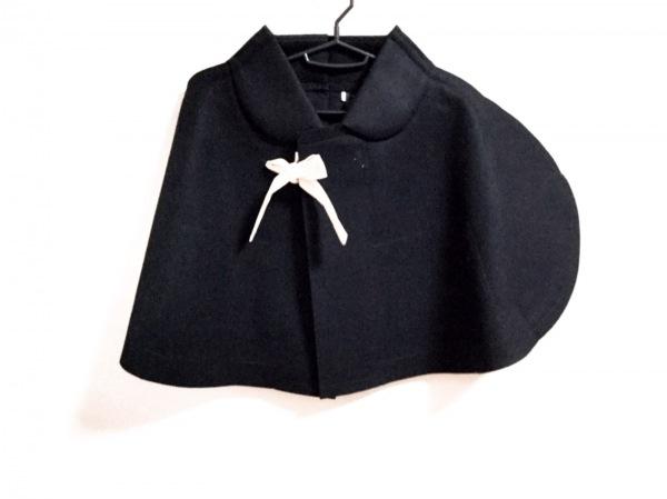コムデギャルソン コート サイズS レディース 黒 冬物/ショート丈/ポンチョ風