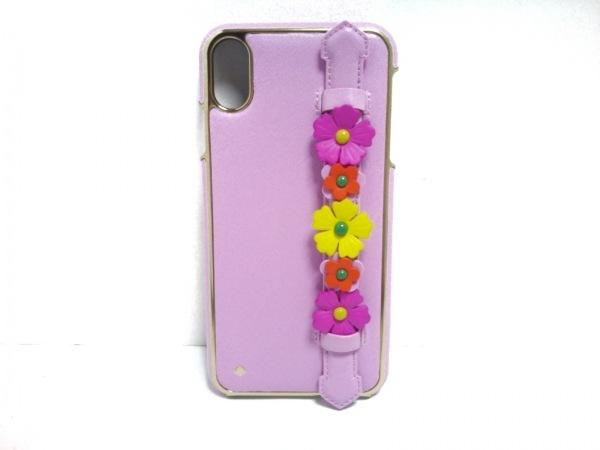 Kate spade(ケイトスペード) 携帯電話ケース美品  8ARU6120 ピンク×マルチ レザー