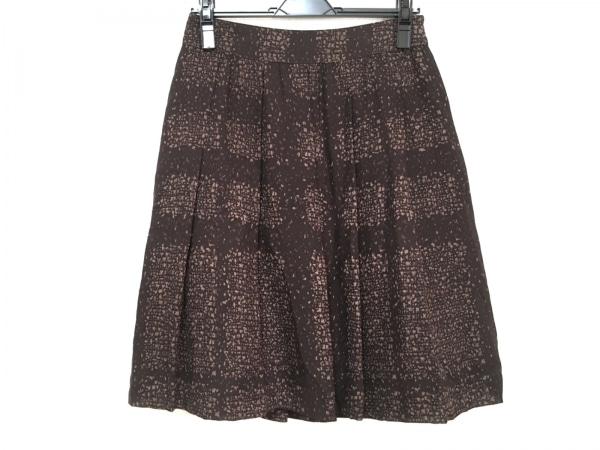 バーバリーロンドン スカート サイズ38 L レディース美品  ダークブラウン×ブラウン