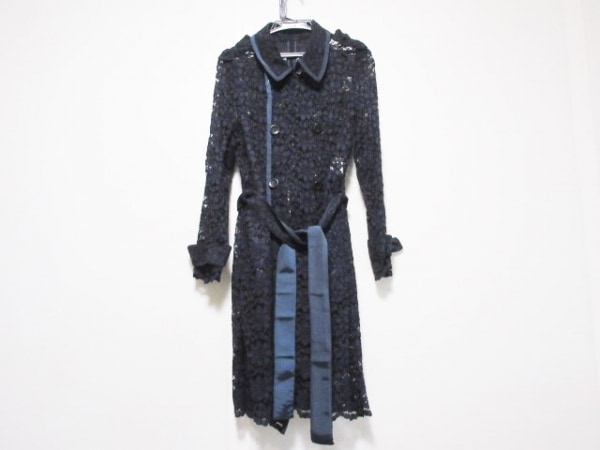 MADAME HIROKO(マダムヒロコ) コート サイズ9 M レディース美品  ネイビー 春・秋物