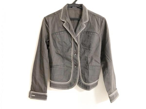 DKNY(ダナキャラン) ジャケット サイズ2 M レディース ダークグレー×アイボリー