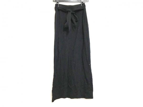 three dots(スリードッツ) ロングスカート サイズS レディース 黒