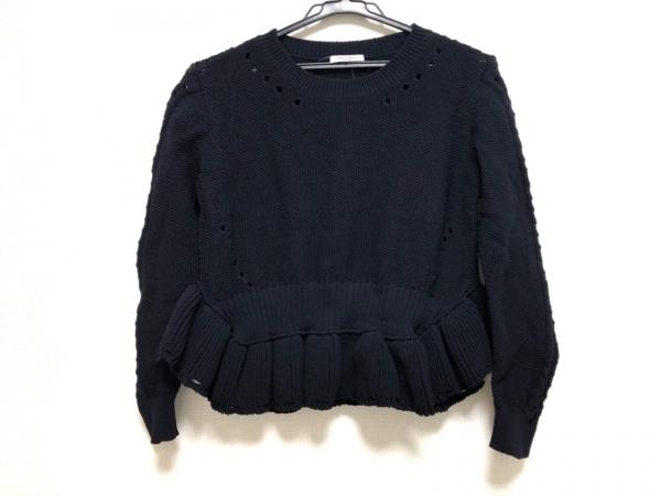 near nippon(ニアーニッポン) 長袖セーター レディース美品  ネイビー フリル
